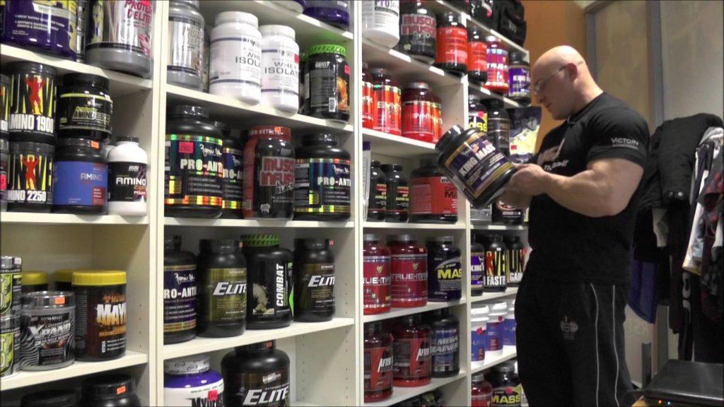 спортвное питание, способствующее набору мышечной массы худых