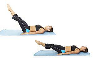 упражнения для нижней части пресса девушкам - подъем ного